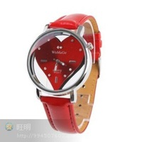 1Pcs Womage 9729 - 1 heart red  wrist watch