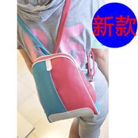 Women's handbag color block bags  small bag school bag duomaomao fashion bag