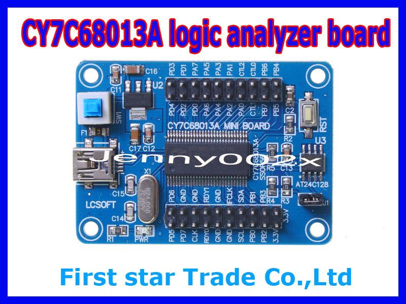 Wholesale 5pcs/lot EZ-USB FX2LP CY7C68013A mini board USB Development Logic Analyzer Core Board I2C serial and SPI(China (Mainland))