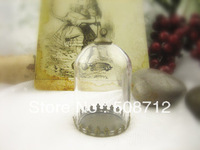 !Free shipping!GGP00061 50sets/lot  38*25mm Arch Glass Globe Bubbles with bronze  base with ring