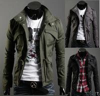 2013 men's spring clothing men's slim jacket fashion solid color Men casual outerwear male jacket