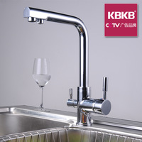 Free shipping Two-site drinking water faucet cold and hot water multifunctional Kitchen Faucets