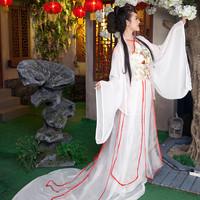 Apron ikbal service tang costume fairy costumes hanfu costume expansion bottom