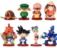 8pcs/set Anime Dragon Ball Z Deformation Songukou Gogeta Gotenks Action Figure toy