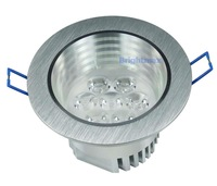 6pcs/lot Bridgelux 7W 700LM LED light LED downlights Spotlamps Wholesale Fedex free shpping(D120E-71)