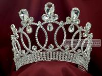 beauty pageant rhinestone crown tiara queen princess headdress mo033