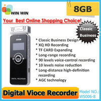 Multi-function 8GB Digital Voice Recorder Dictaphone  MP3 Player Speaker with FM Free shipping