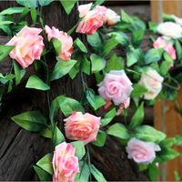 Artificial flower rose artificial flower silk flower air conditioning water pipe decoration rattails flower vine 0 - 062