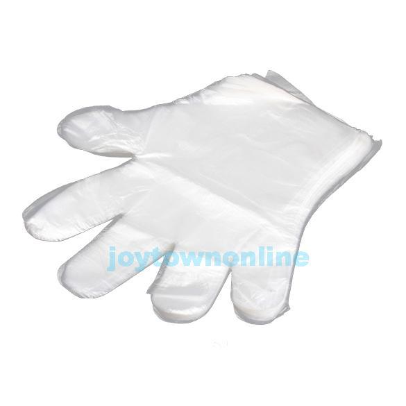 100 Disposable PE Garden Home Restaurant BBQ Plastic Multifuction Gloves #