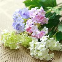 free shipping Artificial flower silk flower  plastic flower decoration flower hydrangea single