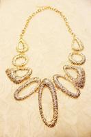 1pcs 2014 hot Fashion drop geometry irregular metal necklace fashion female short design necklace A0011