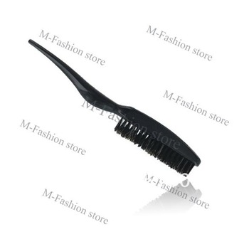 Professional Teasing / Back Combing Black Plastic Hair Brush, Slim Line Styling Free Shipping 10189