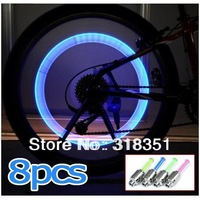 8PCS Bike Bicycle Cycling Car Tyre Wheel Neon Valve Firefly Spoke LED Light Lamp[220703]