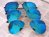 FREE SHIPPING 2013 NEW ARRIVAL MEN / WOMEN FASHION SUNGLASSES AVIATOR SUNGLASSES HIGH QUALITY  reflective color lenses