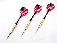 10 PCS Electroplate Copper Steel Needle Streamline Tip Dart Darts Fast Flag Flight