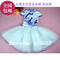 2013 china fashion porcelain child wedding dress female children princess dress one-piece dress performance dress