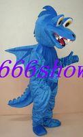 Adult Size dragon blue Cartoon Mascot Costume Fancy Dress Free Shipping