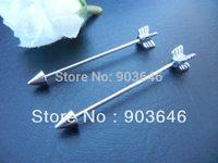 Lot 50pcs Free Shippment  16g Long  Industrial Barbells Ear Barbells  Body Jewelry Ear Piercing Arrow 35mm
