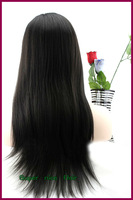 Natural Yaki Peruvian virgin human hair front lace with baby hair and beached knots free shipping