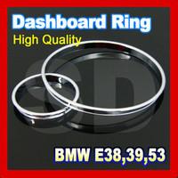 (free shipping) Chrome Cluster Ring Chrome Gauge Ring Dashboard Ring for BMW E38 E39 E53