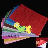 Handmade Materials of Adhesive EVA Foam Paper Sheet with Glitters for Diy Gifts,Decor,Toys,20*30cm,1.6-1.8mm thickness,10 colors