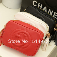 Best Selling!!2013 new fashion women tassel small bags vintage Leather camera bag mini messenger bags Free Shipping