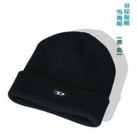 Outdoor thermal male hat skiing knitted hat skiing hat female male knitting wool thickening knitted hat knitted hat