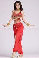 2013 belly dance dancing ivory bra top+chiffon bell-bottom pants skirt costume 2pcs/set stage costume wear clothing