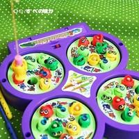 Educational toys electric - wheel rotating fishing toy
