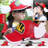 Hat cotton cloth adult child parent-child mesh cap baseball cap angel wings cap