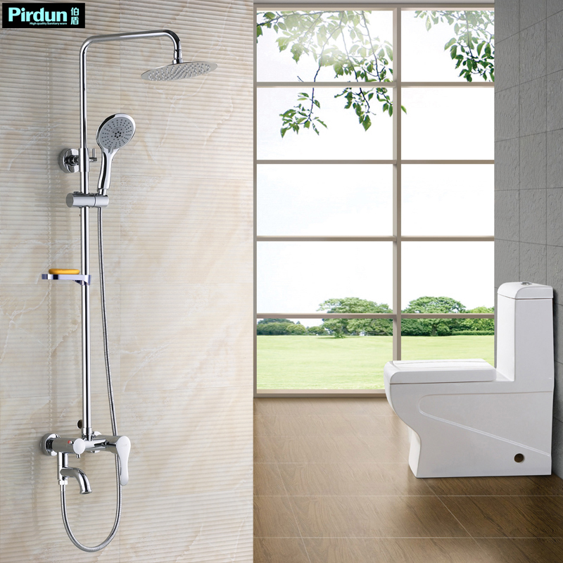 Shower bathroom faucet copper bibcock shower lift set combination(China (Mainland))