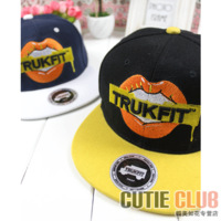 Trukfit baseball cap hip-hop three-dimensional embroidery lovers design summer flat hat hiphop hat