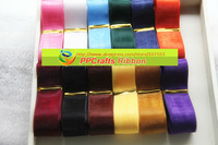 PPCrafts Sheer Ribbon 1 inch 25mm 2.5cm Solid color Organza Ribbons set mixed 12 colors for DIY bows making - Free Shipping