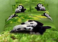 New Beautiful 4PC 100% Cotton Comforter Duvet Doona Cover Sets FULL / QUEEN / KING SIZE bedding set 4pcs animal green panda love