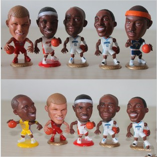 nba model doll toy toys kobe 24 kirby 6 basketball team 7 pcs james howard star dolls(China (Mainland))
