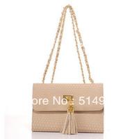 Best Selling!!new promotion ladies PU Leather Tassel Chain Handbag women Small Cross Body bag Free Shipping