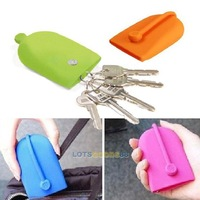 LS4G 2014 New Key Chain Hasp Style Silicone Pouch Card Bag Case Gift Key Holder Magnet Snap
