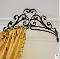 Tieyi quality wrought iron bed frame mantle  royal mosquito net frame princess curtain rack