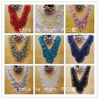 Diy clothes accessories lace decoration fabric collar cravat collar sequin car multicolor  c1