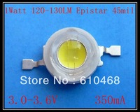 Free shipping 50pcs/lot  High power LED  1W 120-130LM Epistar  45mil chip