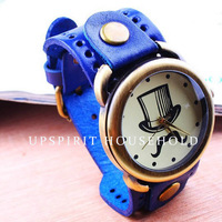 Free shipping  popular watch Fashion casual big dial watch for men quartz watch with leather band