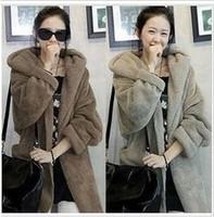 2013 spring wool coat women cloak outerwear long design hooded plush