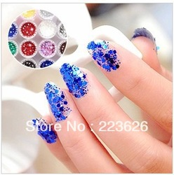 2013 New Arrival 12 Colors Metal Shiny Acrylic Nail Powder Glitter Dust Kit UV Stamp Art Tool 7445(China (Mainland))