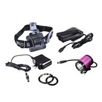 Shop Free shipping  Cree XM-L T6 692lm 4-Mode Bicycle Headlamp - Deep Pink + Black (2 x 18650)
