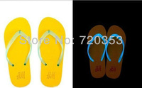 New products for 2013 Wholesale - free shipping summer Man woman Fluorescence slippers  Flip-flops Luminous slippers