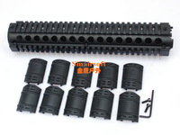 M16 / AR Rifle Length Quad Rail System For Full Size Rifles (MNT-HG416LA) With 10pcs Rubbers Free Shipping