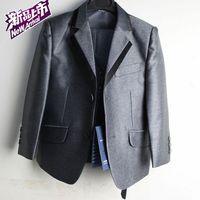 Retail 1 pcs children's clothing boy's suit blazer set 6 piece set Fashion Wedding wear high quality CC0162