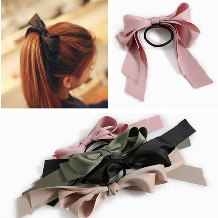 2014 New Hair Accessories Ribbon Bowknot Elastic Hair Band for Women(China (Mainland))