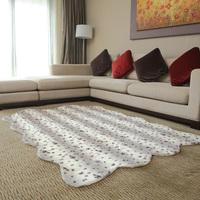 The face american slip-resistant carpet coffee table carpet leopard print carpet black and white stripe
