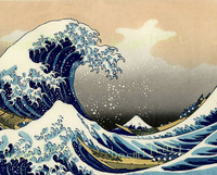 The Great Wave Off Kanagawa' by Katsushika Hokusai oil reproduct,Large scenery ocean wave oil on canvas,Marine arts for bistros